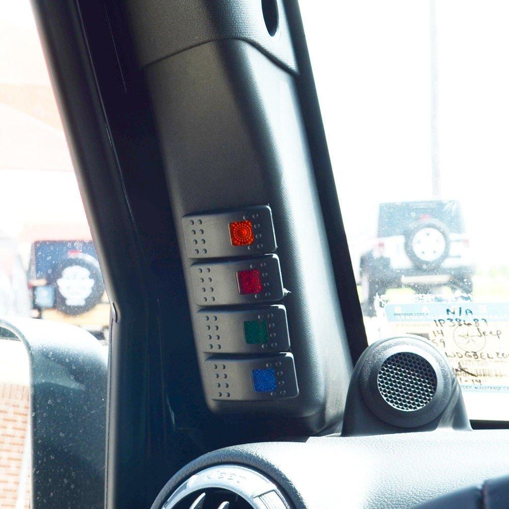 Amazon.com: 2011 2012 2013 2014 2015 2016 2017 Jeep Wrangler Switch Panel  Pod with 4 Switch Combo: Automotive