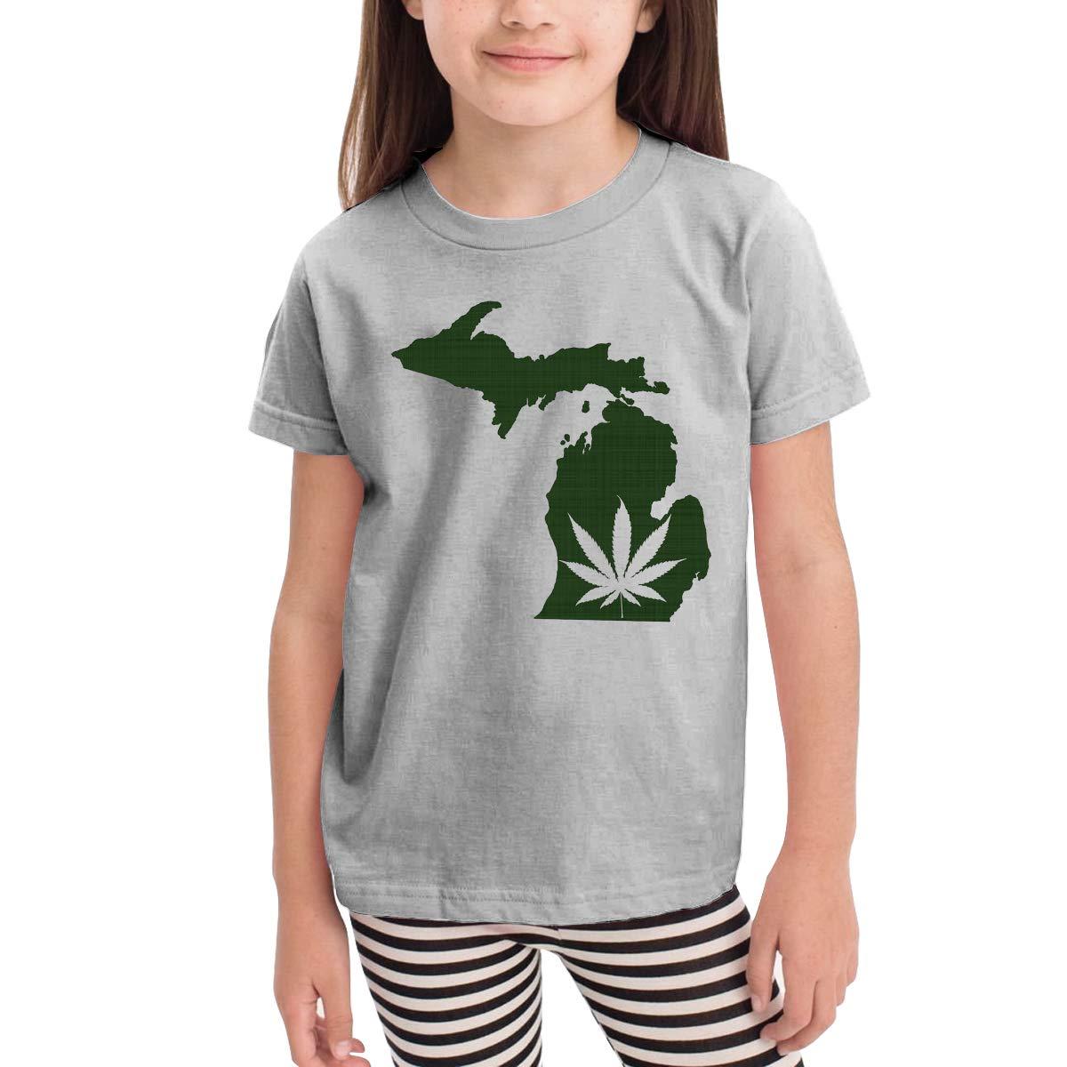 Marijuana Leaf Michigan Leaf Michigan 100/% Cotton Toddler Baby Boys Girls Kids Short Sleeve T Shirt Top Tee Clothes 2-6 T