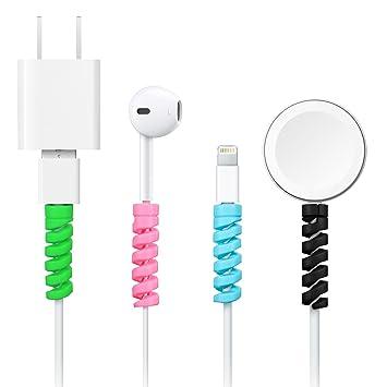12 Piezas de Protector de Cable de Cargador en Tipo C, Protector de Micro USB de Silicona Flexible, Protector de Cable de Ratón, Adecuado para Todos ...