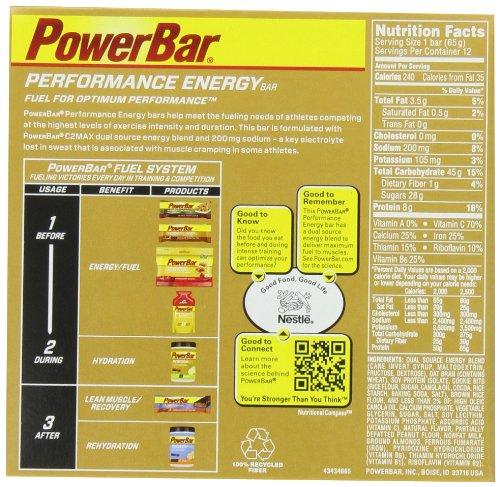 PowerBar Performance Energy Bar, Cookie Dough, 2.29 Ounce Bars (Pack of 24)