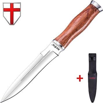 Amazon.com: Grand Way Cuchillo de caza – cuchillo fijo de ...