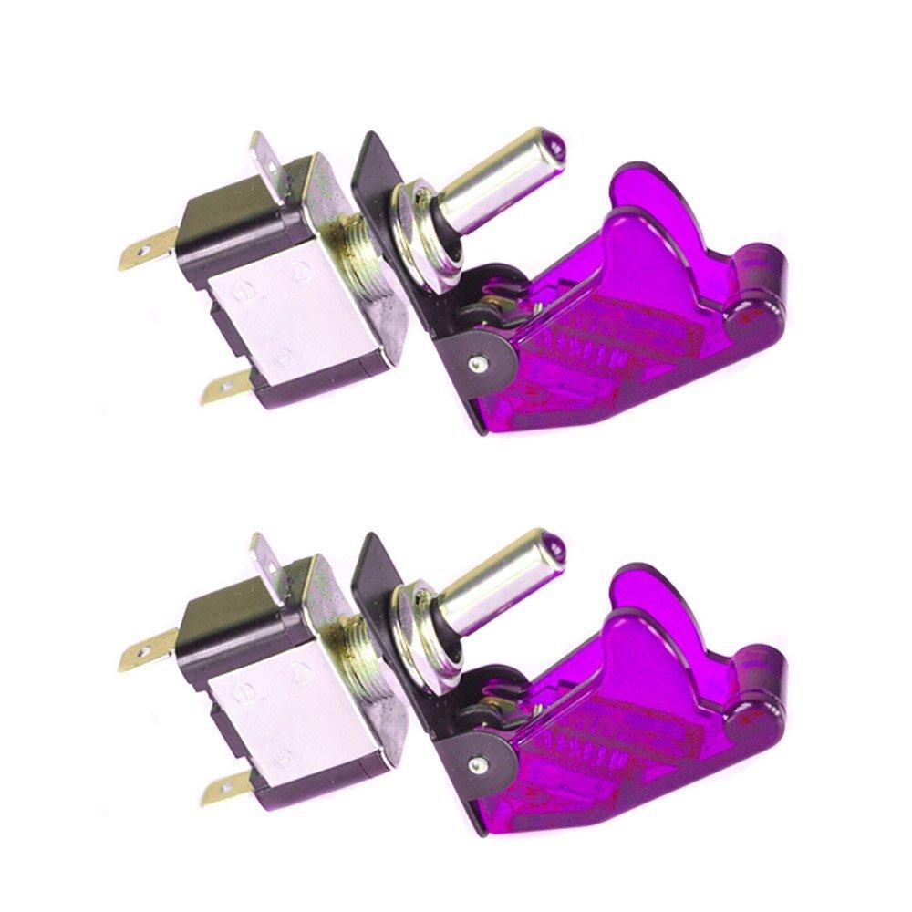 Mintice™ 2 X Auto Motore 12V 20A Verde Coprire Luce LED Verde Interruttore a levetta