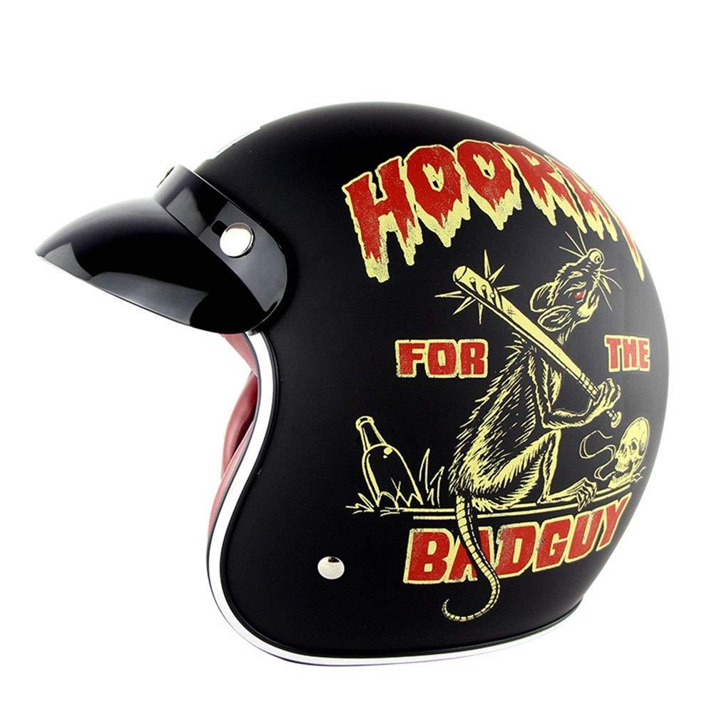 オートバイのヘルメット, ハーフヘルメット大人男女兼用安全ヘルメット滑り止め耐衝撃性, 耐久性のあるヘルメット,B B