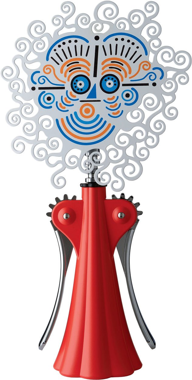 Alessi Anna G. 20th Anniversary Corkscrew Finish: Red by by Alessi