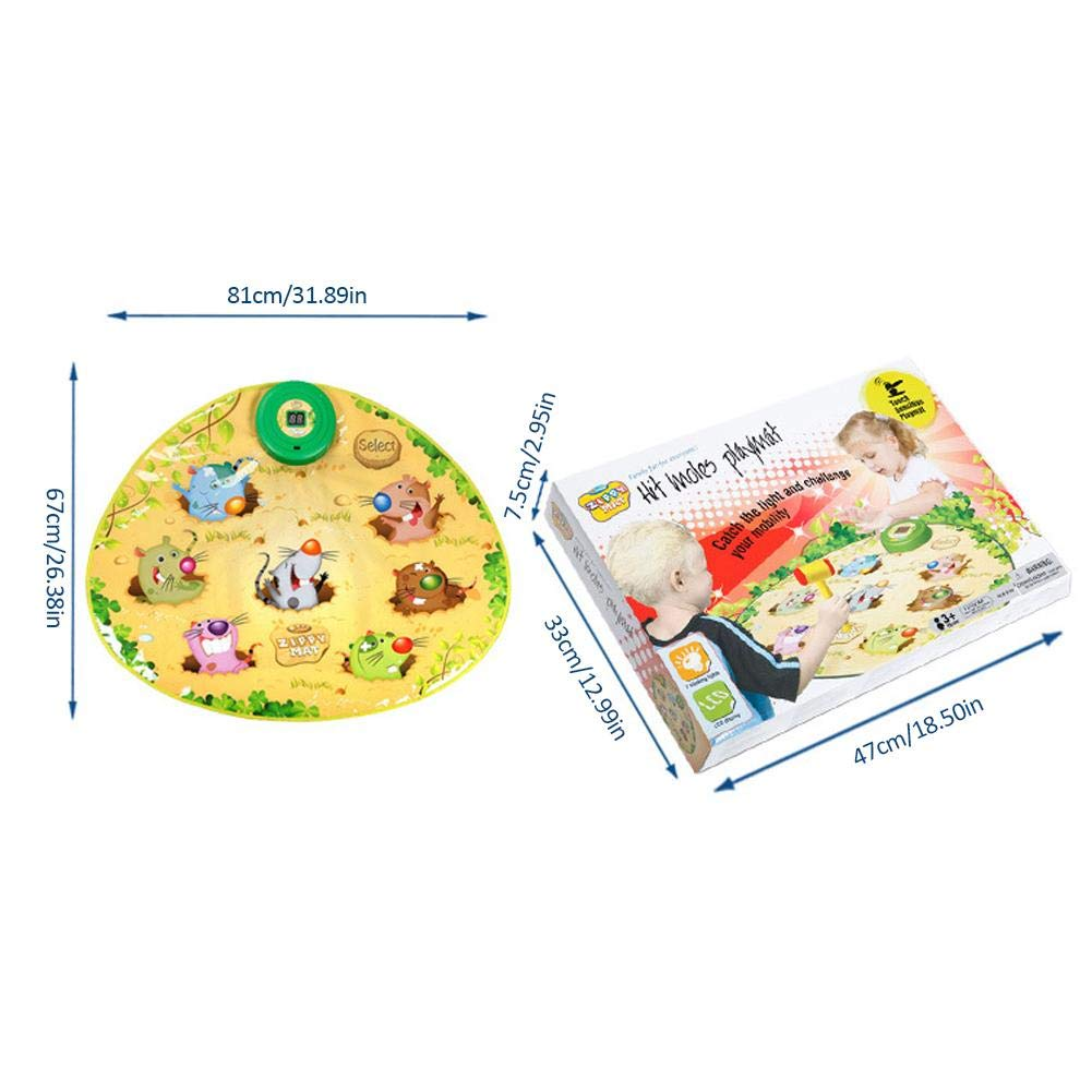 Zigtee Children's Toy Whac a Mole Game Dance Mat Puzzle Music Pad by Zigtee (Image #4)