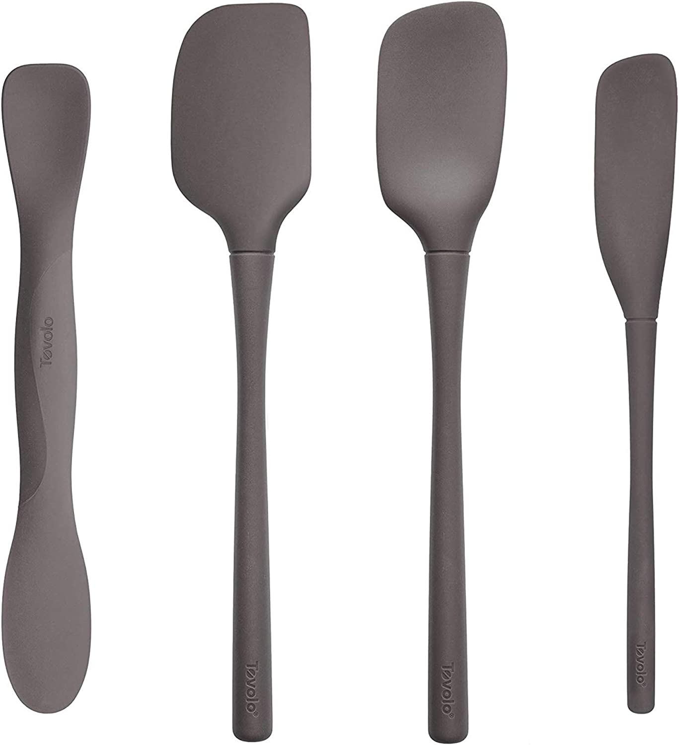 Tovolo All Silicone Tool Set, Charcoal - Set of 4