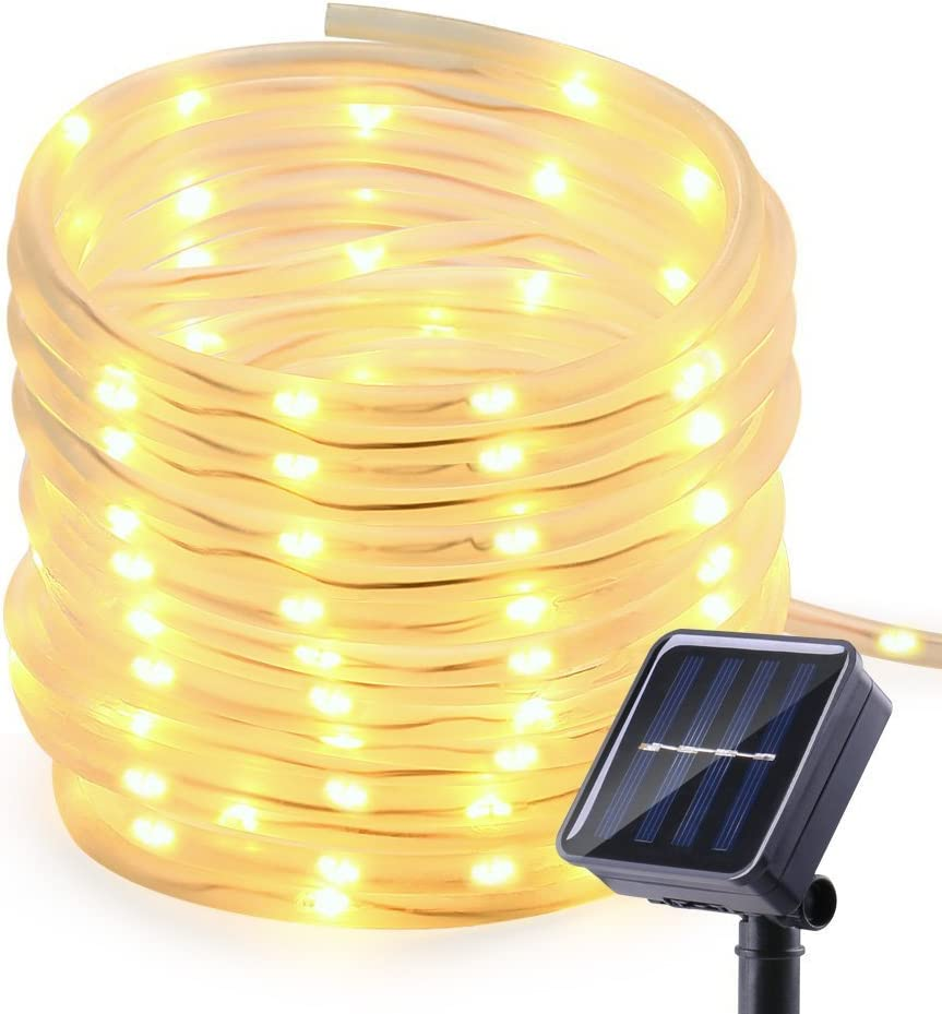 2 Pack 100 LED Lights 39 feet 8 Modes Copper Wire Lights Waterproof Outdoor String Lights for Garden Patio Gate Yard Party Wedding Indoor Bedroom ALHXF Solar lights String Lights blue