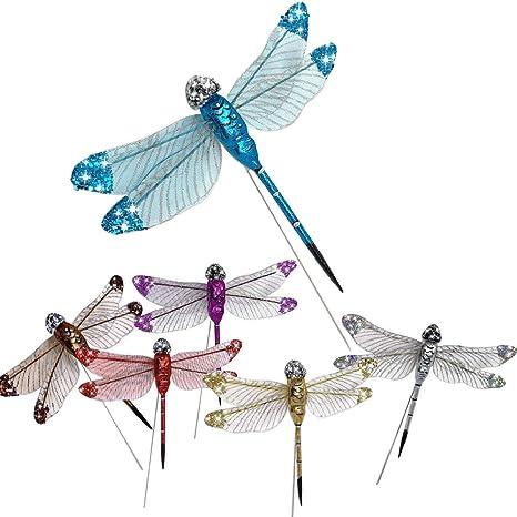 Craft Dragonfly Set – Púas florales de libélula – Multi colores ...
