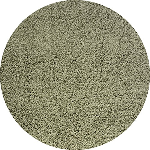 Momeni Rugs CSHAGCS-10OGN800R Comfort Shag Collection, High Pile Area Rug, 8' Round, Olive Green