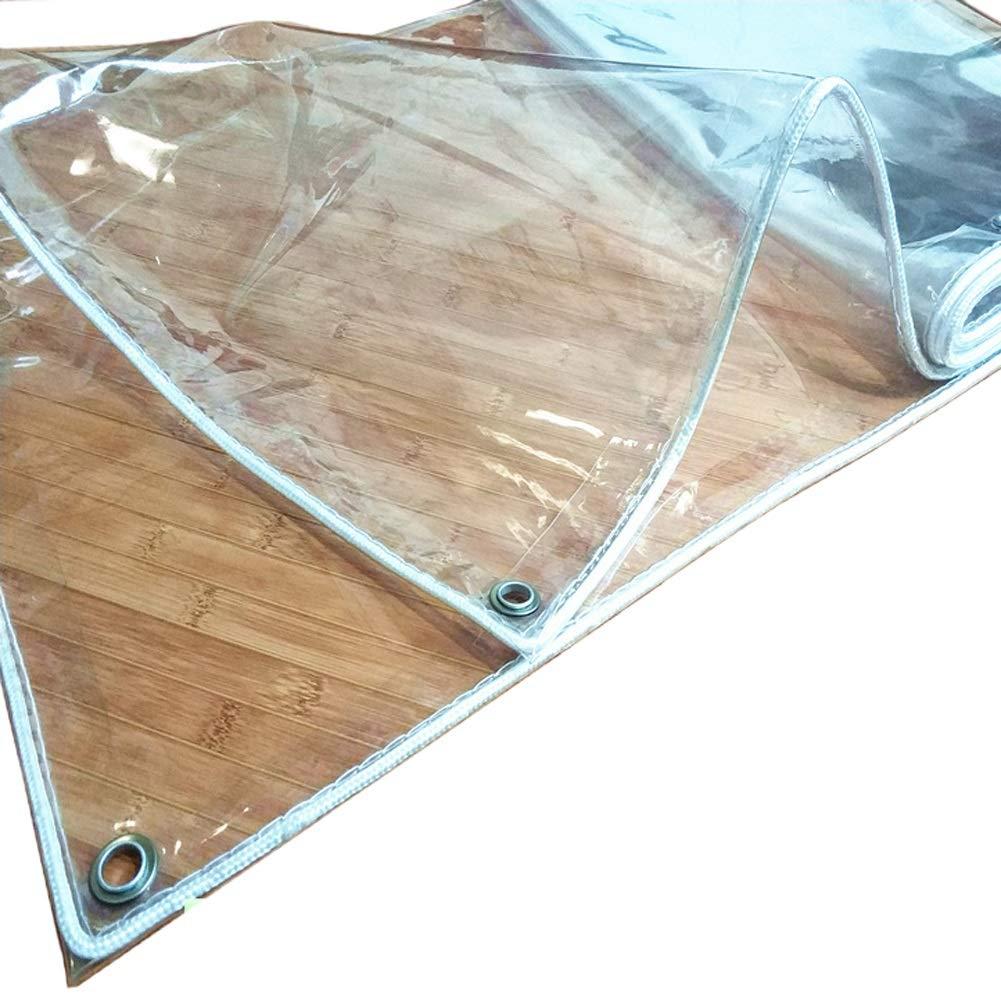 Telone Tarps Trasparenti, Panno di plastica del PVC di Spessore 0,3 mm Panno Impermeabile di Tetto Impermeabile per Esterno, per Giardino Serra (Dimensioni   1.5×2m)