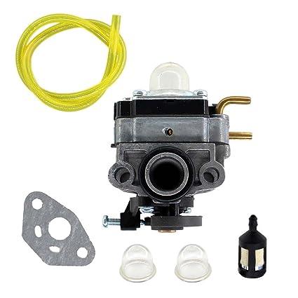 USPEEDA Carburetor Carb for Ryobi RY252CS RY253SS RY251PH RY254BC Models 2  Cycle 25cc Fuel Line Fuel Filter