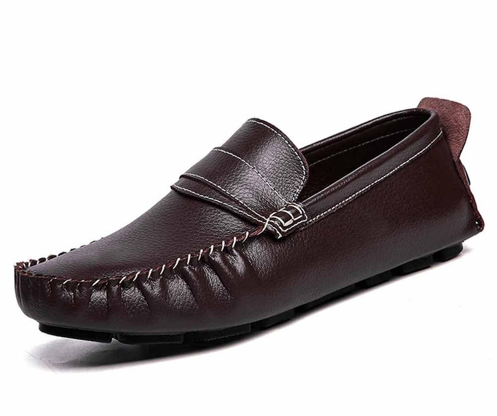 GLSHI Männer Casual Loafer Mode Atmungsaktiv Atmungsaktiv Mode Driving Schuhe Britische Leder Flache Schuhe Niedriger Top Slip On Large Größe 946ea7