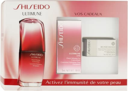 Shiseido Ultimune Set de Crema Regenerativa + Crema de Ojos + Crema de Concentrado Infusión - 42 ml: Amazon.es: Belleza