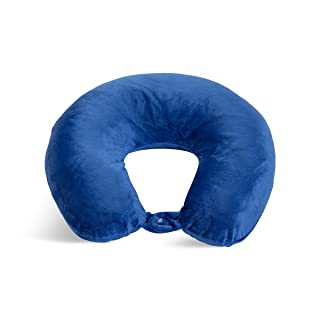 World's Best Feather Soft Microfiber Neck Pillow, Cobalt