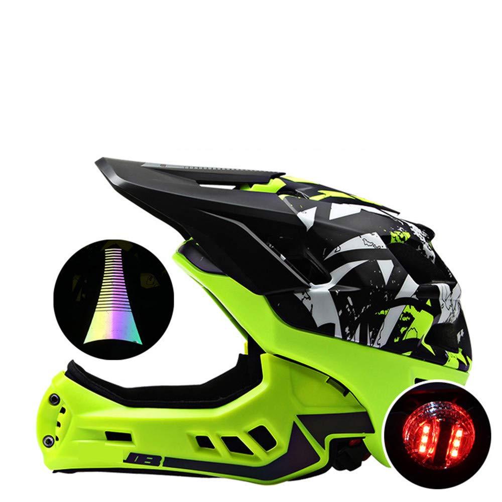 Chengzuoqing Casco de niños Kids Balance Car Helmet Casco de una Sola Pieza con un Colorido Casco de Ciclismo Ajustable Anti-cursor Casco de Skate para niños (Color : Green)