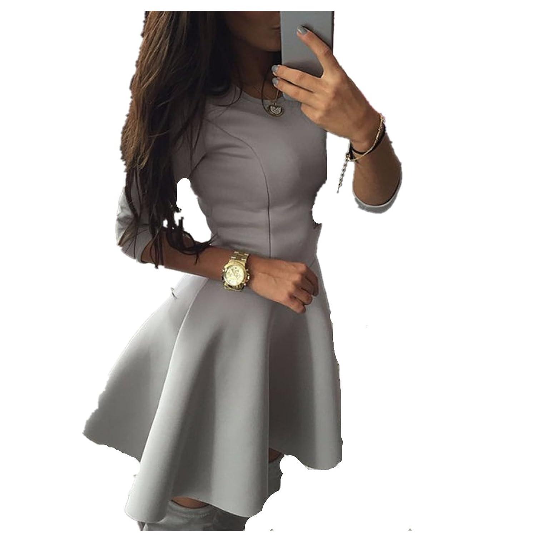 Fanessy Frühling Langarm Kleid Casual Kleider Nightshirts Rock sweatkleid