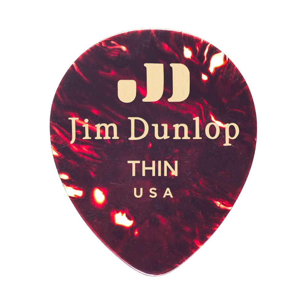 12//Players Pack Dunlop 485P05MD Genuine Celluloid Tear Drop Shell