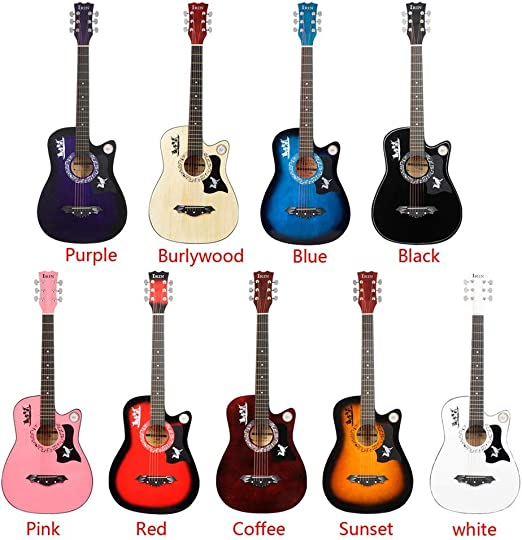 Guitarra 1PCS estudiantes Ligera 38 pulgadas de 6 cuerdas de la ...