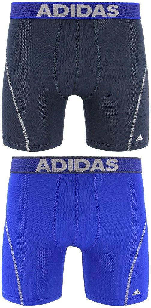 adidas 男性用 スポーツパフォーマンスClimaCool ボクサーパンツ (2着入り) M ブルー B00QG7X53A