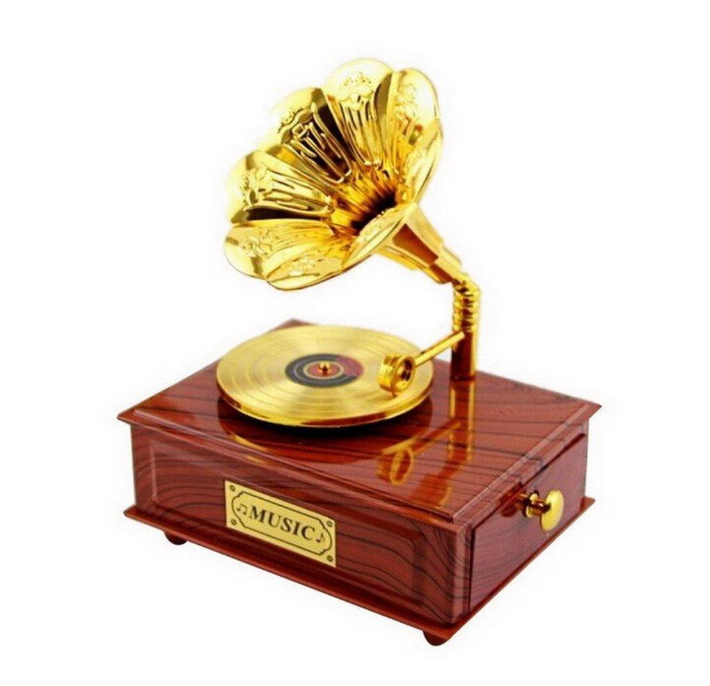 【2018A/W新作★送料無料】 ヴィンテージGramophone Classical ブラウン ホワイト Movement音楽ボックス ホワイト ACMEDE-123 ACMEDE-123 B01IHARISQ ブラウン ブラウン, ミスター総務 家具市場:40b59353 --- egreensolutions.ca