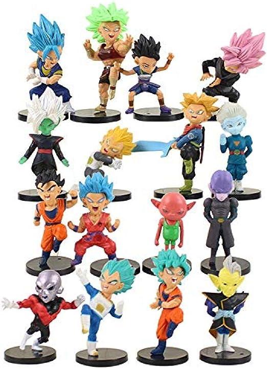 16 Piezas/Set Dragon Ball Super 7 cm Chikara No Taikai Son Goku ...