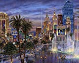 "16""x20"" Hd Canvas Print Home Decor Art Painting (No Frame), Las Vegas, Bellagio, Casino, Palm, Fountain"