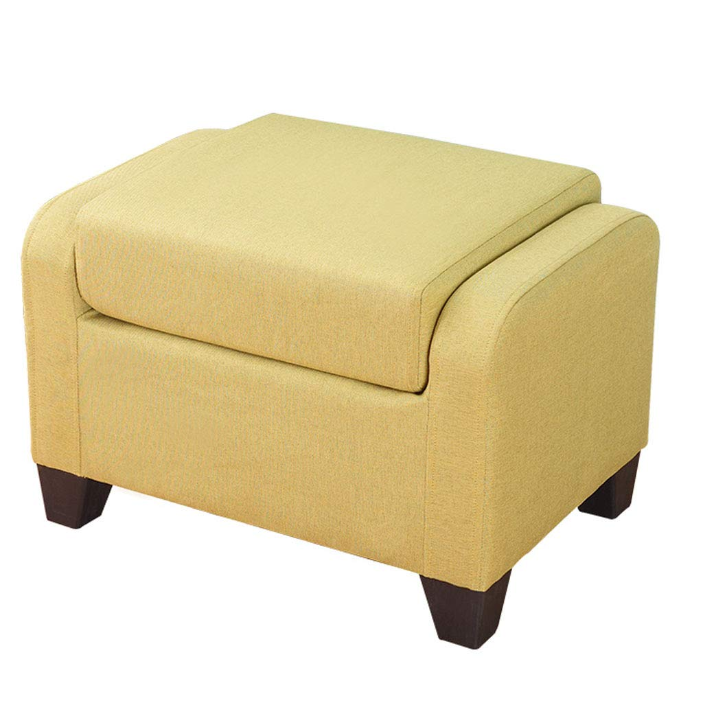 Creative Sofa Stool Living Room Soft Sitting Low Stool Foldable Storage Ottoman Change Comfortable Seat with Wooden Feet and Lid, Soft Padding by SONGTING Ottomans