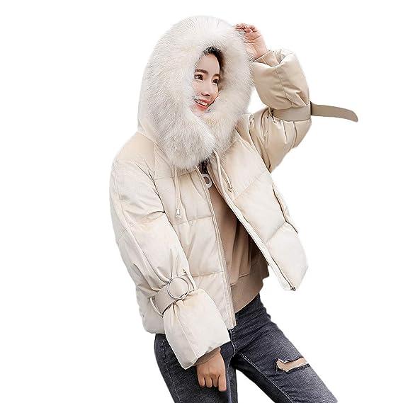 Doudoune à Capuche, GreatestPAK Femmes Hiver Chaud Épais Manteaux Mince  Veste en Coton Rembourré 2cc8da085573