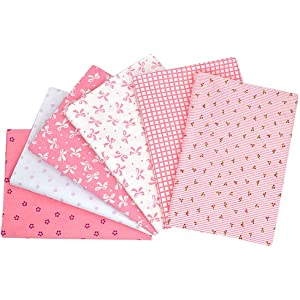 5pcs//lot 15.7x19.7 Pink 100/% Cotton Fabric For Sewing Quilting Patchwork Tissue Tilda Doll Cloth Kids Bedding Textile