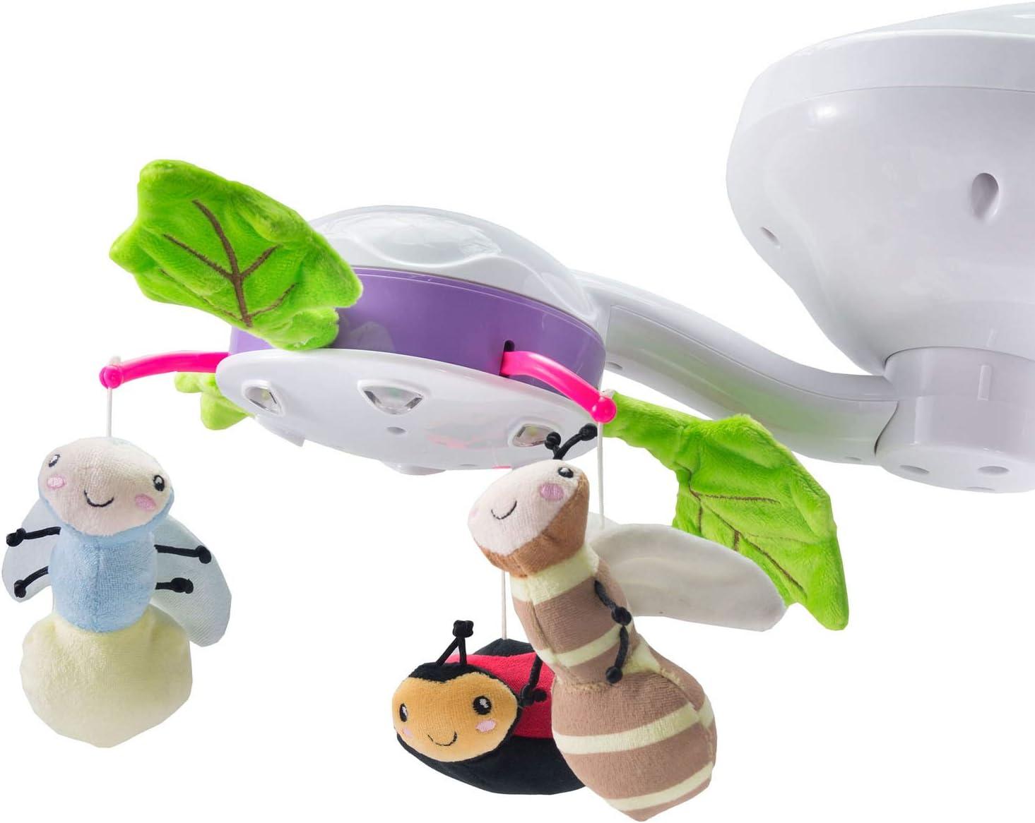 Bugies Caretero elektrische Mobile Baby-Schaukelwippe mit Musik Moskitonetz und 3 verschiedenen Schaukelrichtungen Grau Timer