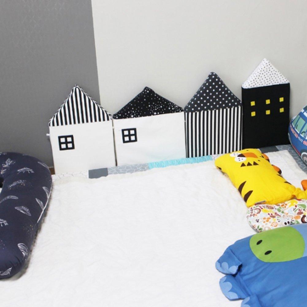 Steellwingsf Alfombrilla de seguridad para la pared del bebé, para niños, para dormir, negro, talla única