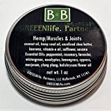 Hemp Balm - Muscles & Joints - 1 ounce - 10 Therapeutic Grade Essential Oils for pain and inflammation