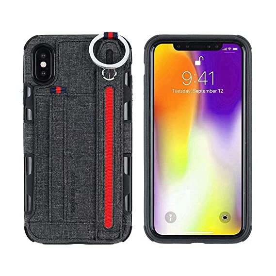 low priced 3aabd 7fa67 Amazon.com: iPhoneX Max Phone Case Rotating Ring Hook with Hand ...