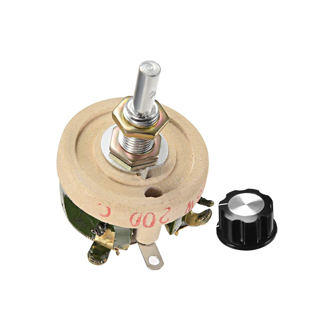 uxcell 150 Ohm 150W High Power Ceramic Wirewound Potentiometer with Knob Rheostat Variable Resistor