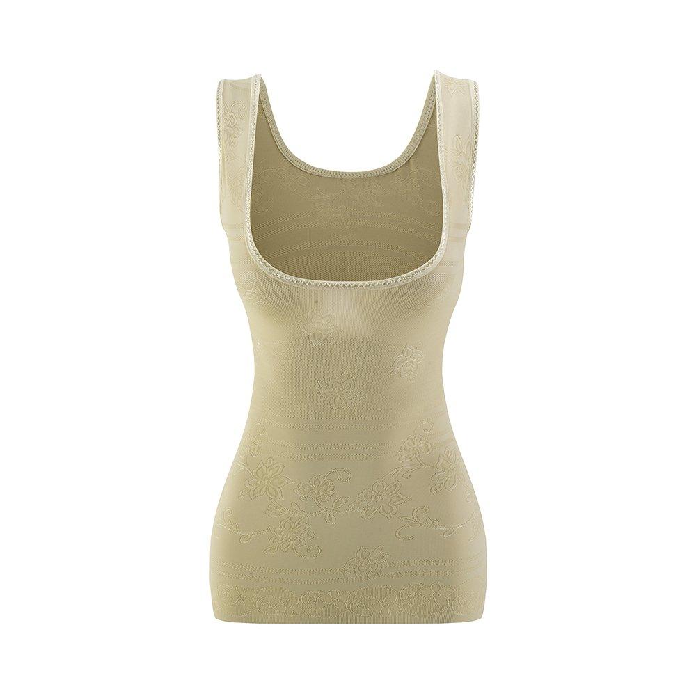 Amazingjoys Women's Open Bust Tank Top Shapewear Seamless Tummy Control Body Shaper