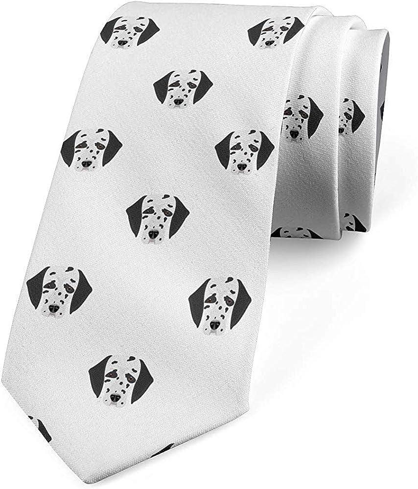 Corbata para hombre, caricatura de caras de perrito, corbata, gris ...
