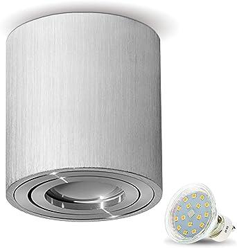 8x Einbaustrahler Lampe Downlight Kunststoff weiß rund IP20+GU10 Fassung L 230V