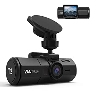 Vantrue T2 24/7 Recording OBD2 Dash Camera Super Capacitor Dash Cam 1920x1080P 2.0'' LCD 160° Car Dashboard Camera w/Wave Guard Parking Mode Recorder, Night Vision, Sony Sensor, Support 256GB Max
