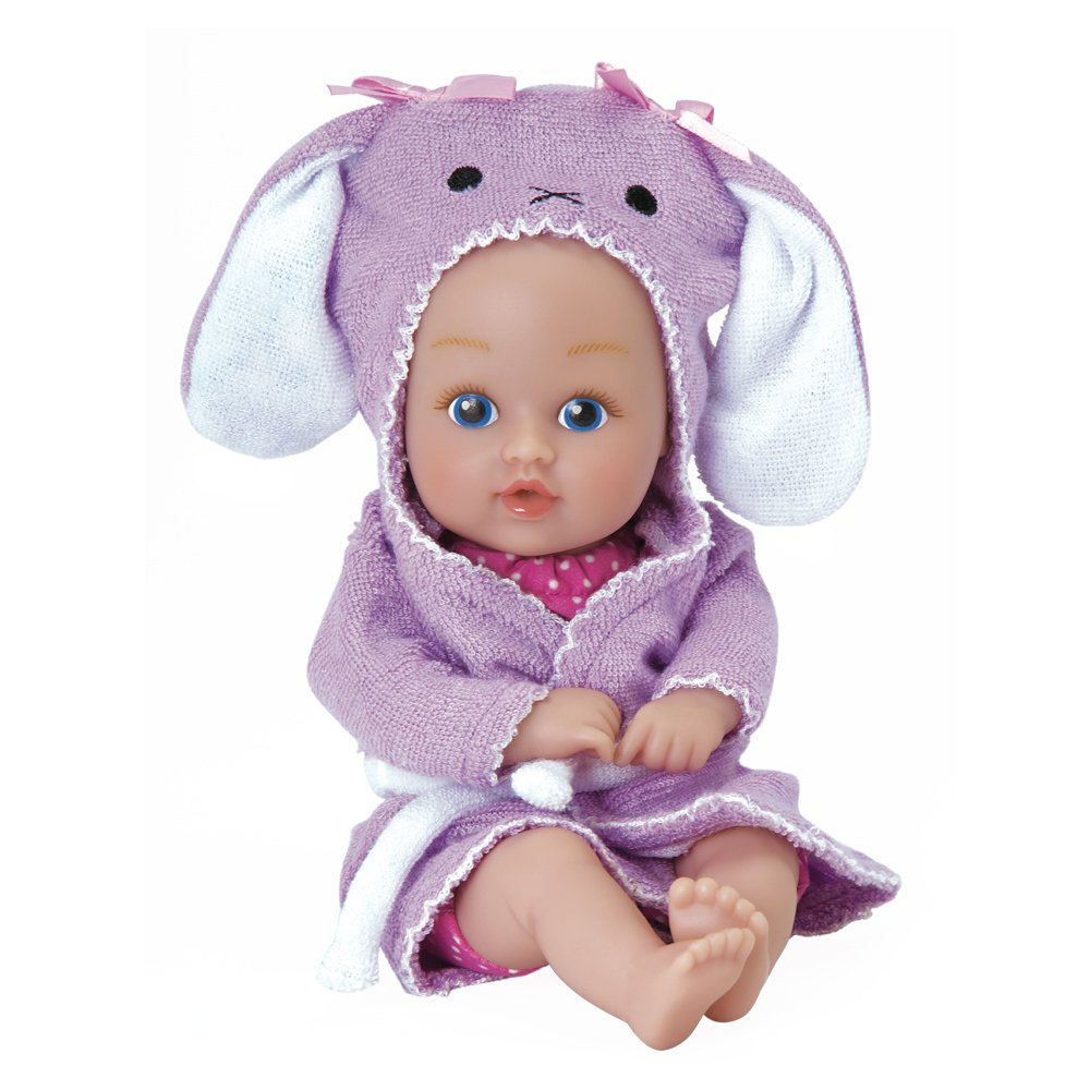 "Adora BathTime Baby TOT ""Bunny"" Small 8.5 Inch Washable Bathtub Water Safe Soft Body Vinyl Fun Play Toy Doll for Boy or Girl Children and Toddlers 1 Year Old and up 2181008"