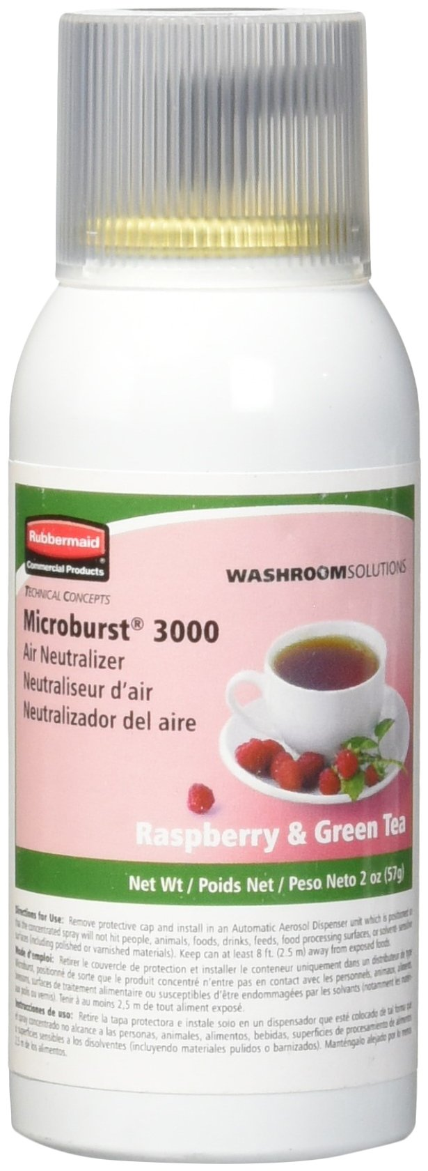 Rubbermaid Commercial Refill for Microburst 3000 Automatic Odor Control System, Rasberry Green Tea, FG750362