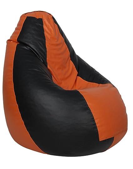 Fine Amazon Com Sattva Classic Bean Bag Without Beans Xxxl Black Pabps2019 Chair Design Images Pabps2019Com