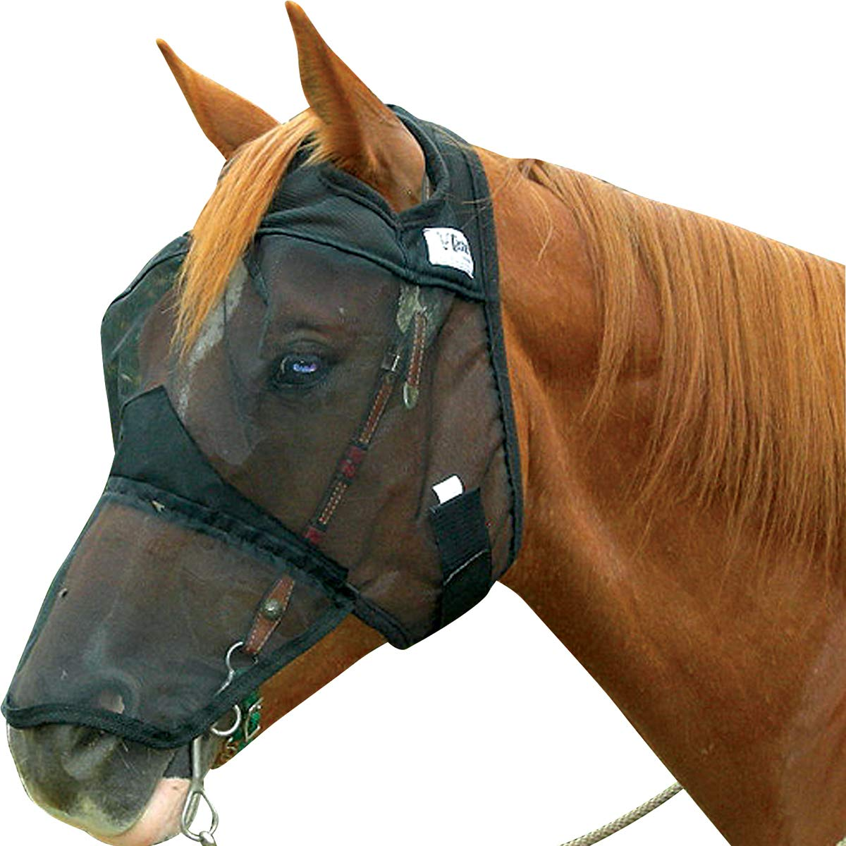 Cashel Quiet Ride Horse Fly Mask, Long Nose, Horse by Cashel