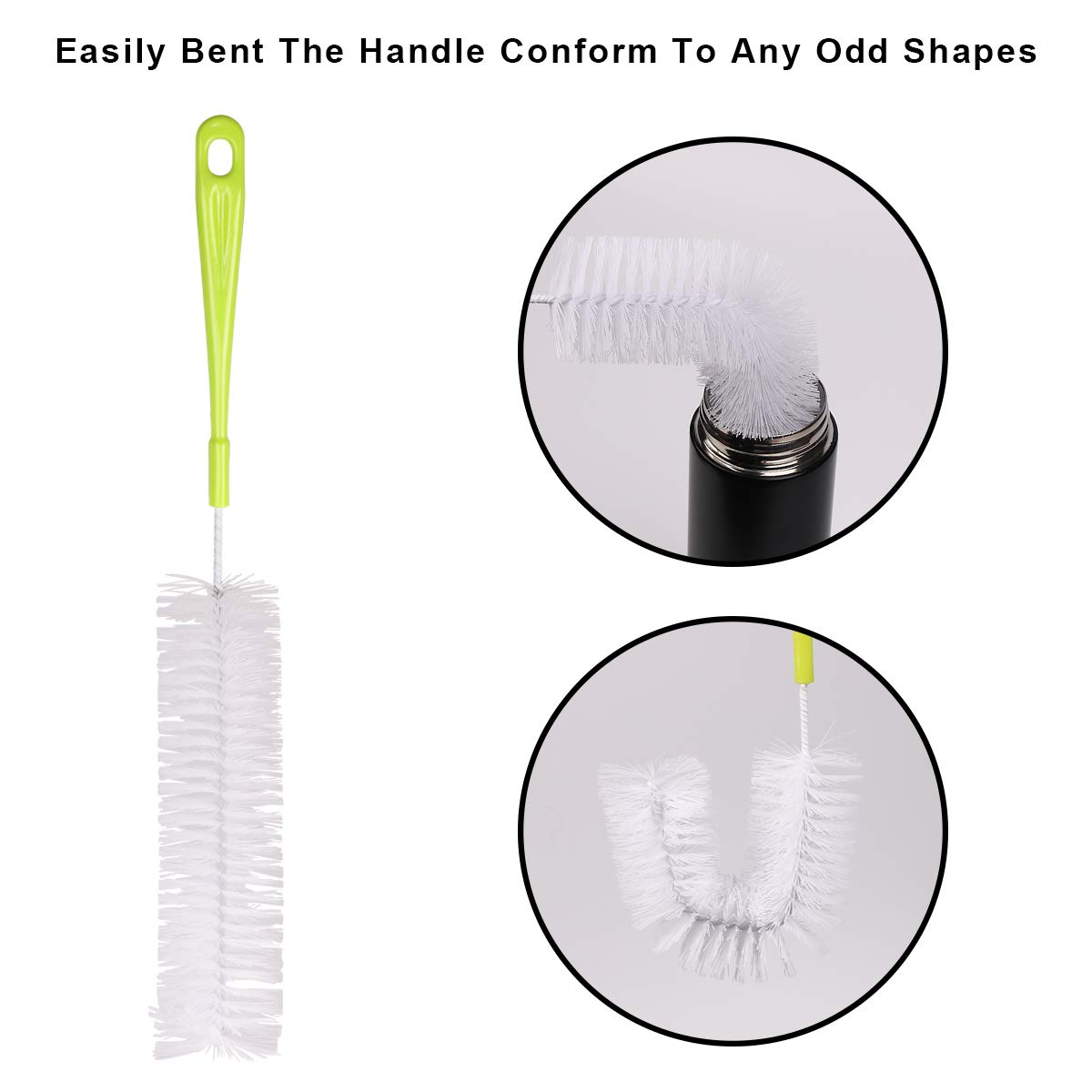 8Pcs Multipurpose Bottle Cleaning Brushes Non-Scratch Water Bottle Cleaner Set for Baby Bottle Tube Pipe Flask Straws Brush Vicloon Bottle Brushes