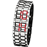 APUS Zeta Silver-Red LED Watch für Ihn Design-Highlight