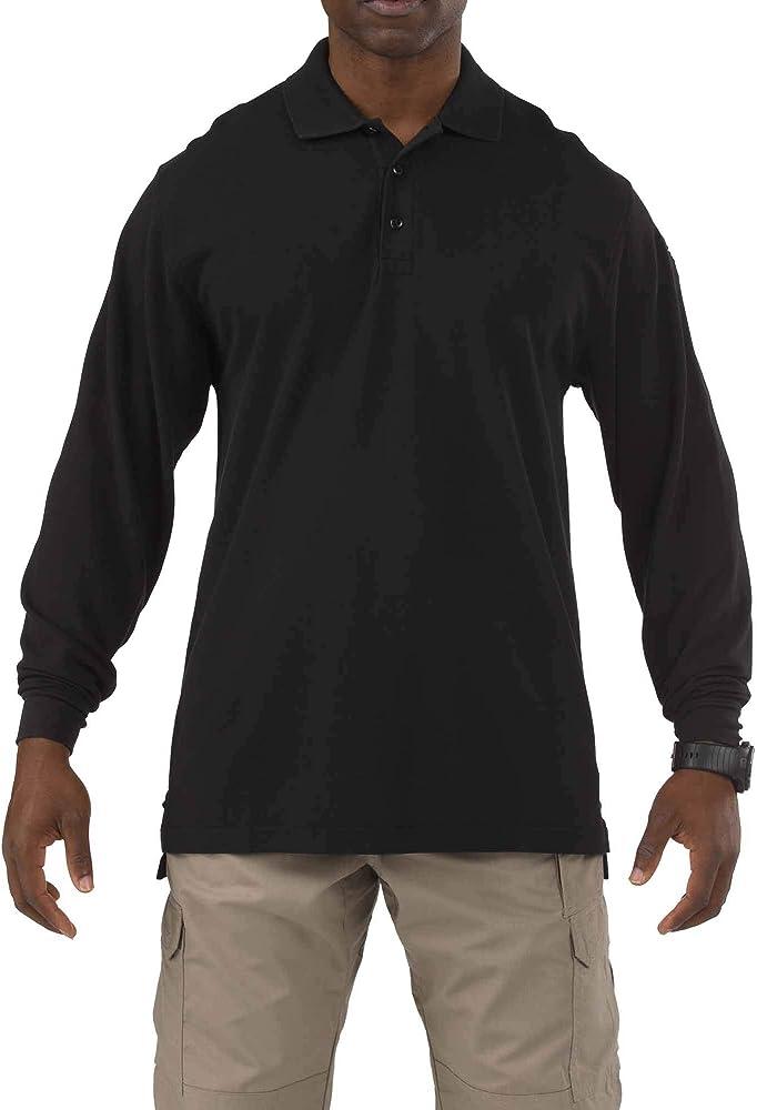 NEW 5.11 TACTICAL 42056 MENS PROFESSIONAL POLO LONG SLEEVE SHIRT DARK NAVY XL