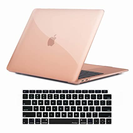 promo code cdb40 6549a ProCase MacBook Air 13 Inch Case 2018 Release A1932, Hard Shell Case Cover  for MacBook Air 13-inch Model A1932 with Keyboard Skin Cover -Crystal