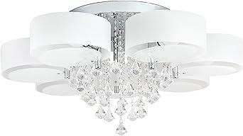 Deckenbeleuchtung 12 Watt LED Wohnzimmer Küche Flur Glas Metall Deckenlampe top