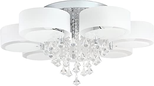 7W LED Decken Lampe Energie Spar Leuchte rund Glas Alabaster blau Esszimmer Flur