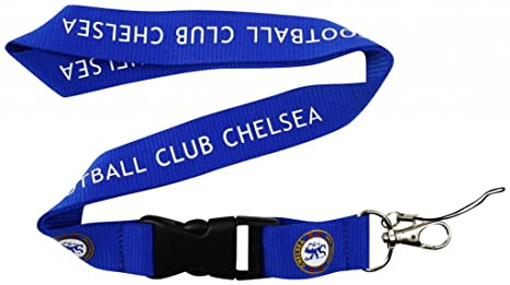 Amazon.com: Chelsea FC llavero Holder Lanyard – azul, talla ...