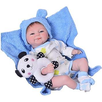 KEIUMI Muñecas de bebé sonrientes de 43 cm con apariencia real gemelas de  silicona suave para a52df48e0492